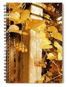 Porch Post Berries Glow Spiral Notebook