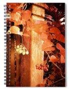 Porch Post Berries Rust Spiral Notebook