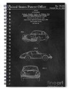 Porsche 911 Carrera 1964 Patent Art  Spiral Notebook