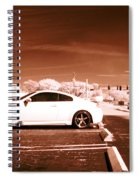 Porsche Car Side Profile Brown Near Infrared  Spiral Notebook
