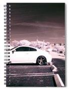 Porsche Car Side Profile Pink Near Infrared Spiral Notebook