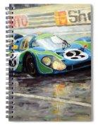Porsche Psychedelic 917lh  1970  Le Mans 24  Spiral Notebook