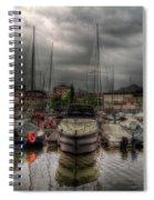 Port At Como Lake Spiral Notebook