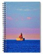 Port Austin Reef Light Spiral Notebook