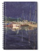 Stary  Port Orchard Night Spiral Notebook