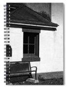Port Wilson Lighthouse Bench Bw Spiral Notebook