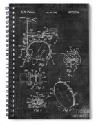 Portable Drum Set Patent 037 Spiral Notebook