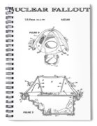 Portable Nuclear Fallout Shelters 4 Patent Art 1986 Spiral Notebook