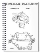 Portable Nuclear Fallout Shelters3  Patent Art 1986 Spiral Notebook
