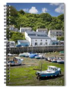 Porthleven Harbor - Low Tide Spiral Notebook