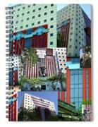 Portland Building Collage Spiral Notebook