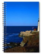 Portland Head Light Panoramic View Spiral Notebook