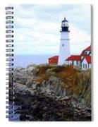 Portland Head Light House In Maine Spiral Notebook