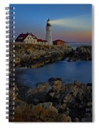 Portland Head Light Sunrise Spiral Notebook