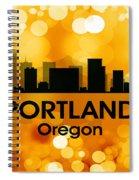 Portland Or 3 Spiral Notebook