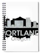 Portland Or 4 Spiral Notebook