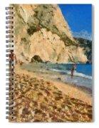 Porto Katsiki Beach In Lefkada Island Spiral Notebook