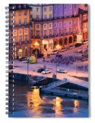 Porto Old Town In Portugal At Dusk Spiral Notebook