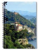 Portofino Coastline Spiral Notebook