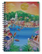 Portofino, Italy, 2012 Acrylic On Canvas Spiral Notebook