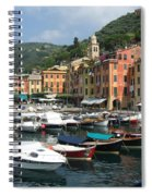 Portofino Port Entrance Spiral Notebook