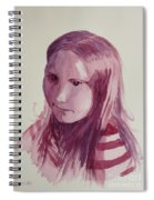 Portrait In Burgundy  Spiral Notebook