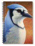 Portrait Of A Bluejay Spiral Notebook