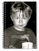Portrait Of A Boy Spiral Notebook