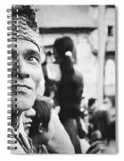Portrait Of A Face In The Crowd Spiral Notebook