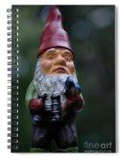 Portrait Of A Garden Gnome Spiral Notebook