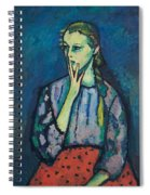 Portrait Of A Girl Spiral Notebook