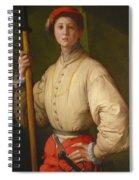 Portrait Of A Halberdier Spiral Notebook