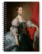 Portrait Of A Lady In A Blue Gown Spiral Notebook