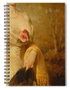 Portrait Of A Lady In A White Dress Spiral Notebook