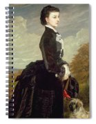 Portrait Of A Lady In Black With A Dog Spiral Notebook