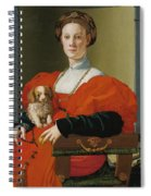 Portrait Of A Lady With A Lapdog Spiral Notebook