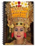 Portrait Of A Legong Dancer Spiral Notebook