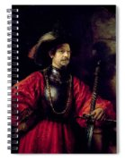 Portrait Of A Man In Military Costume Spiral Notebook