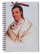 Portrait Of A-mis-quam, A Winnebago Brave Coloured Engraving Spiral Notebook