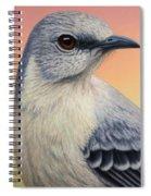 Portrait Of A Mockingbird Spiral Notebook
