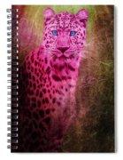 Portrait Of A Pink Leopard Spiral Notebook