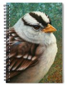 Portrait Of A Sparrow Spiral Notebook