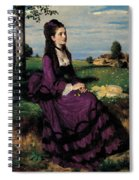 Portrait Of A Woman In Lilac Spiral Notebook