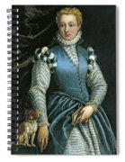 Portrait Of A Woman With A Dog Spiral Notebook