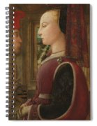 Portrait Of A Woman With A Man At A Casement Spiral Notebook