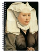Portrait Of A Woman With A Winged Bonnet Spiral Notebook