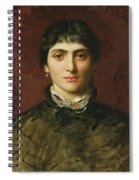 Portrait Of A Woman With Dark Hair Spiral Notebook