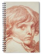 Portrait Of A Young Boy Spiral Notebook