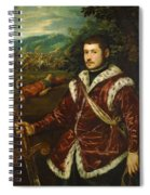 Portrait Of A Young Man As David Spiral Notebook