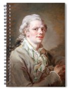 Portrait Of A Young Man Spiral Notebook